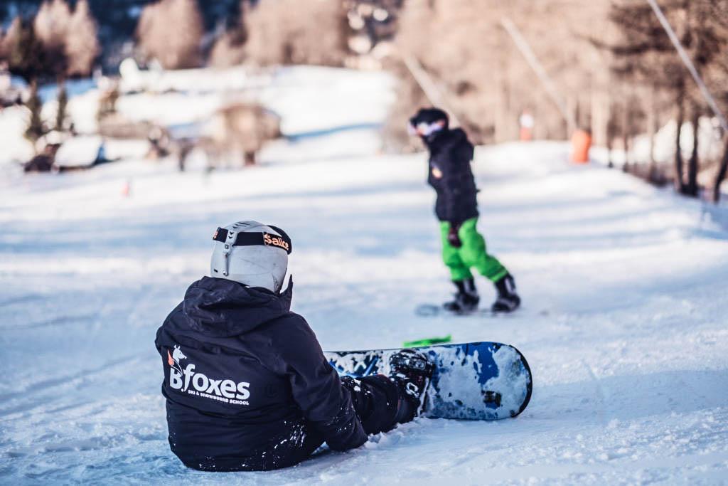 Lezioni e corsi di snowboard per bambini a Bardonecchia